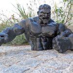 Hulk 1.2m pour un projet événementiel (brut avant finition)